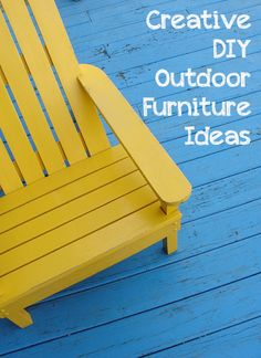 Creative DIY Outdoor Furniture