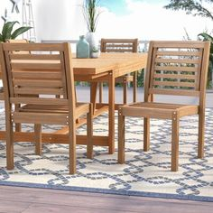 Patio Dining Chairs, Outdoor Dining Set, Dining Chair Set, Table And Chairs, 3 Piece Bistro Set, 3 Piece Dining Set, Wood Patio Furniture, Outdoor Furniture Sets, Furniture Ideas