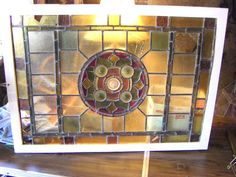 Vintage Antique Matching Pair of Stained Glass Windows Need Repair | eBay