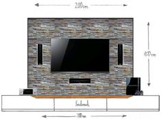 Unvollst?ndiger Entwurf meiner TV-Wand