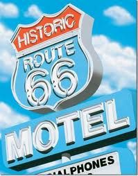 vintage neon Route 66 Sign, Route 66 Road Trip, Travel Route, Vintage Neon Signs, Retro Vintage, Vintage Images, Historic Route 66, Old Signs, Vintage Travel