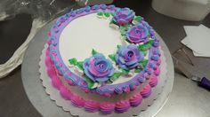 Single layer,bettercreme, follow me on Facebook Lilsweets Basket Weave Cake, Birthday Cake Girls, Birthday Cakes, Buttercream Cake Designs, Single Layer Cakes, Mothers Day Cake, Gateaux Cake, Birthday Cake Decorating, Cupcake Cakes