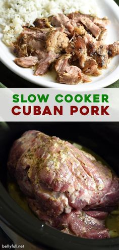 Pork Recipes, Slow Cooker Recipes, Cooking Recipes, Healthy Recipes, Cuban Recipes, Slow Cooking, Cuban Pork, Pork Dishes, Easy Meals