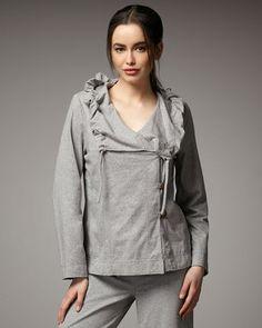 79658064cb POPSUGAR Shopping  Neon BuddhaDrawstring-Collar Jacket Mi Ebay