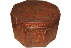 Chinese Leather Zodiac Box on OneKingsLane.com