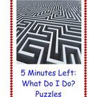 5 Minutes Left and What Can I Do? : 100 Fun and Challenging Puzzles - free TPT download