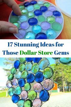 17 stunning ideas for how to craft with dollar store gems. store glass gem crafts 17 Stunning DIY Decor Ideas For Your Dollar Store Gems Gem Crafts, Easy Crafts, Diy And Crafts, Crafts For Kids, Arts And Crafts, Kids Diy, Decor Crafts, Diy Crafts Cheap, Crafts Toddlers