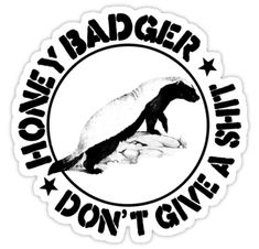 HONEY BADGER DON'T GIVE A SHIT T SHIRT HEAT TRANSFER fun diy iron on transfers,Flock logo iron on patches [] - $2.00 : irononland.com
