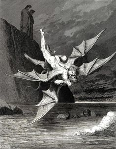 The Inferno, Canto 22 - Gustave Dore  Today, I feel like that's me in the picture   :(
