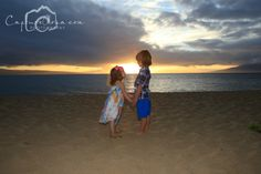 Maui Family Photos, Maui Photographer, Beach Portraits, Sunset, two cuties, Brother sister forever, www.capturealoha.com