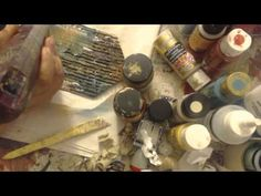 ▶ MIXED MEDIA STEAM PUNK GRUNGY TAG TUTORIAL - YouTube