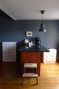 Great Ideas Using Navy Blue Kitchen Cabinets Decohoms. Before And After Two Toned Kitchen Reno Home Bunch - Home and Family Bekvam Stool, Door Sixteen, Green Countertops, Ikea Stool, Kitchen Nightmares, Family Dining Rooms, Two Tone Kitchen, Cabinet Boxes, Space Painting