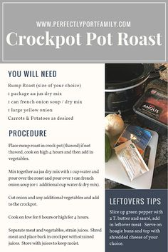 Easy crockpot pot roast recipe plus 25 more Easy Meal Ideas. Includes a free printable meal idea printable. Pot Roast Recipes, Crockpot Recipes, Dinner Recipes, Easy Family Meals, Easy Meals, Turkey Lunch Meat, Easy Chicken Pot Pie, Family Meal Planning, Meal Planner