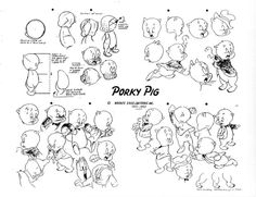 Porky Pig Model Sheet Ver. 2 by guibor