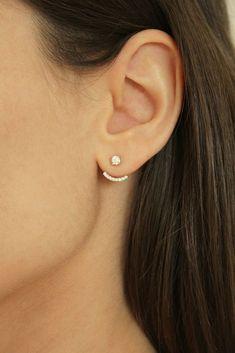 Piercing Oreille Tendance New Ideas Ear Jewelry, Dainty Jewelry, Trendy Jewelry, Cute Jewelry, Bridal Jewelry, Gold Jewelry, Jewelery, Jewelry Accessories, Jewelry Design