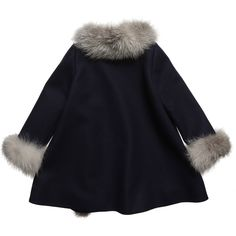 Dior - Navy Blue Cashmere and Fur Coat | CHILDRENSALON