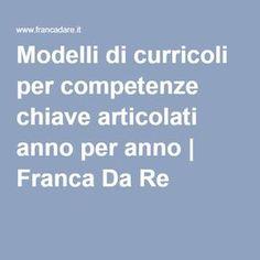 Modelli di curricoli per competenze chiave articolati anno per anno | Franca Da Re