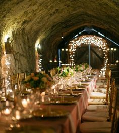 10 amazing and unique wedding venues that you haven't thought of, including a wine cellar wedding, vows in front of a lighted teepee, and cave weddings - Wedding Party Unique Wedding Venues, Wedding Reception Venues, Wedding Locations, Unique Weddings, Wedding Styles, Wedding Ideas, Party Wedding, Wedding Favors, Diy Wedding
