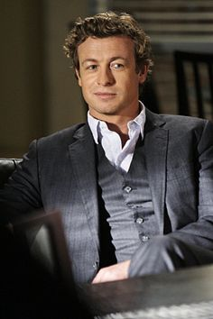 Simon Baker in The Mentalist.  I must say I love his character very much. His style, passion, odd humor and ridiculous wittiness!