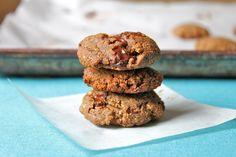 Chocolate Chunk Nutella Cookies that are gluten free, paleo & vegan friendly! :0)