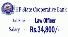 HP State Cooperative Bank Recruitment 2015 – Law Officer Posts