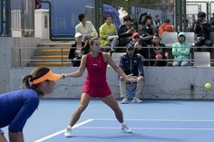 10/1/14 #EleVenbyVENUS Brand Ambassador Jarmila Gajdasova in magenta and partner Ajla Tomljanovic def. in China Open QFs by local fave Shuai Peng and Andrea Hlavackova, the #5-Seeds.