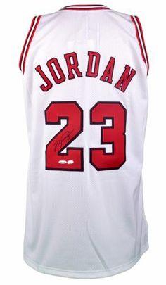 Michael Jordan Autographed Jersey #SportsMemorabilia #ChicagoBulls