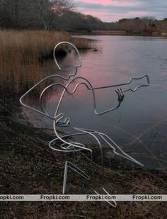 love this wire art!