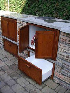 Outdoor Wood Cabinet Kitchen Counters Doors New Countertops