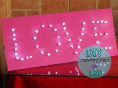 DIY- Decoração Noivado e Festas – Painel LED !  http://noivinhasdeluxo.com.br/post/diy-decoracao-noivado-e-festas-painel-led