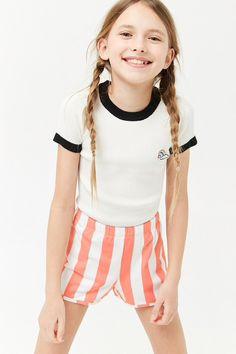 Girls Striped Shorts (Kids)