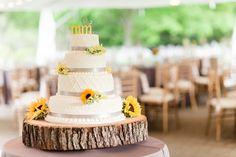 Sundara Wedding | Wedding Cake, Table Settings, Sunflowers, Tent Wedding, Rustic Wedding