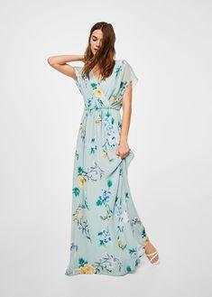 Çiçekli uzun elbise