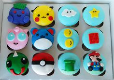 Super Mario ans Pokemon Cupcakes