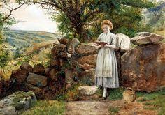 Kilburne,+George+Goodwin+Kilburne+-+A+Peaceful+Read+1869.jpg (1600×1123)