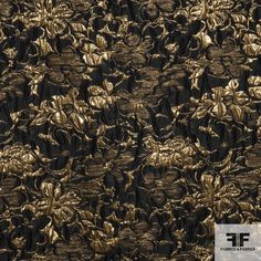 This imported metallic brocade has beautiful flowers woven into the fabric. It has a medium weight and a medium/soft drape. Fabric is also available in other colors! Very elegant and has great luster. This fabric would be perfect for a coat or couture gown.