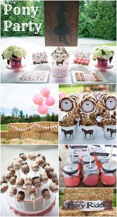 Pony themed party - cutest ideas!