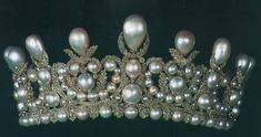 Pearl and diamond tiara that belonged to Empress Eugenie, wife of Napoleon III.  It eventually became the property of the Princes of Thurn und Taxis, but has been sold and is now in the Louvre Museum.