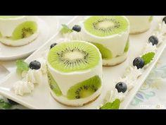 混ぜて簡単冷やすだけ!つぶつぶ「キウイヨーグルトケーキ」の作り方 - YouTube
