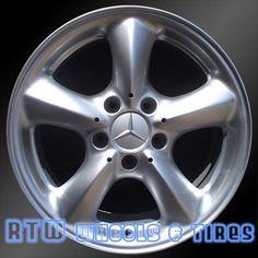"Mercedes wheels for sale C230 C320 CLK320 03-05. 17"" Rear Silver rims 65289 - http://www.rtwwheels.com/store/shop/mercedes-wheels-for-sale-c230-c320-clk320-silver-65289/"