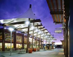 500,000 sf factory outlet retail center with food court, designed to  reflect the region it is located in. Stearns Architecture was Design  Architect with ...