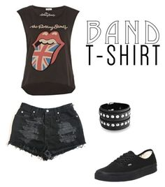 With the Band by elianaxmartinez on Polyvore featuring polyvore, fashion, style, Vans, Bling Jewelry, clothing, bandtshirt and bandtee
