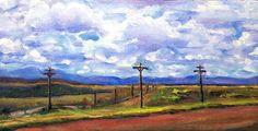 "Landscape Paintings Art By Lisabelle ""Outside Winnemucca"" Oil on canvas 8x10"""