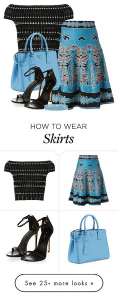 """A-line Intarsia Skirt"" by ljbminime on Polyvore featuring M Missoni, Alexander…"