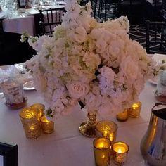 Reception  #coutureventsnj #reception #dvflora #goldaccents #candlelight #whiteonwhite #jerseyshoreweddings #jerseyshorebride #eventstyling #eventplanners #springwedding by coutureventsnj