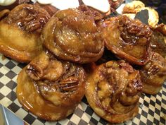 The Black Rooster Bakery Caramel Pecan  Rolls