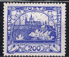 Czechoslovakia, 1918, designed by Alphonse Mucha. St. Vitus Cathedral and Hradčany Castle, Prague.