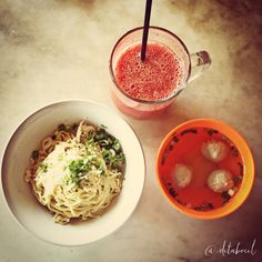 The best noodles in Bandung - Indonesia. Loc : Warung Lela - Indonesia