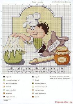 Украшаем любимую кухню / Вышивка / Вышивка крестом