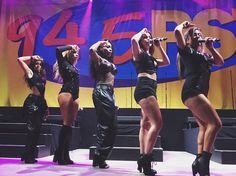 Fifth Harmony on stage at the Summer Bash Fifth Harmony Lauren Jauregui, Fifth Harmony Camren, Ally Brooke, X Factor, Musica Pop, Summer Bash, Dinah Jane, Sassy Girl, Best Dance